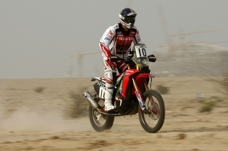 Team HRC defend their world championship leadership in Qatar's Sealine Cross Country Rally
