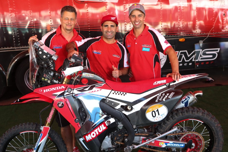 Team HRC back in action for the thrills of the Rally dos Sertoes