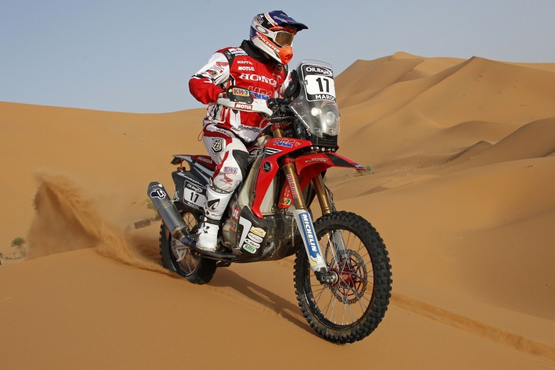 Double for Team HRC as the 2014 OiLibya Rally of Morocco gets underway