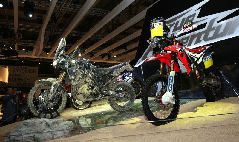 Team HRC in attendance in Milan for the launch of the True Adventure Prototype