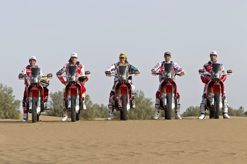 KH-7 and Team HRC, united at the Dakar 2015