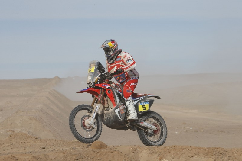 Helder Rodrigues wins ninth stage. Four Honda CRF450 RALLYs among top five spots