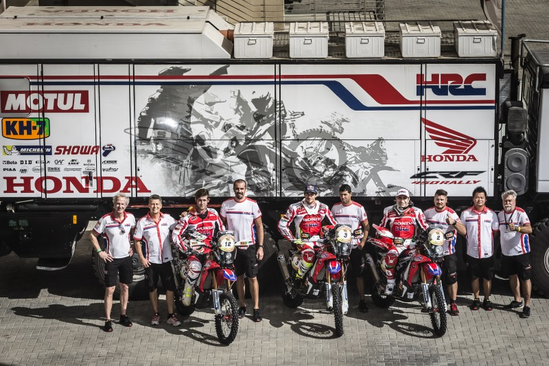 Team HRC begins the Cross-Country Rallies World Championship in Abu Dhabi