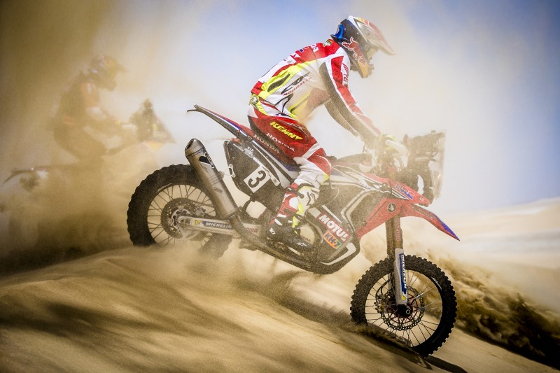 Tough day for Team HRC at the Sealine Rally