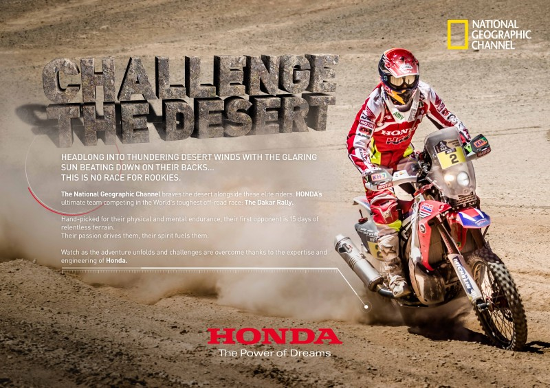 Dakar Rally, Honda and the National Geographic, a must
