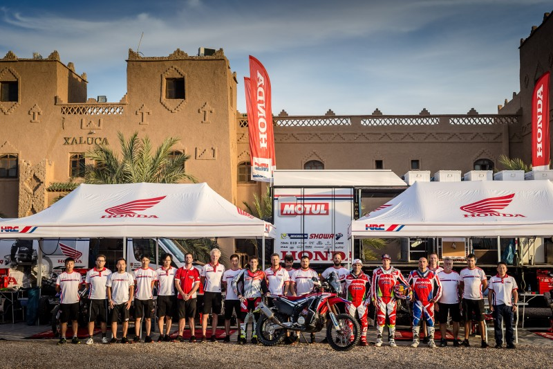 Team HRC gets the OiLibya Morocco Rally campaign underway tomorrow