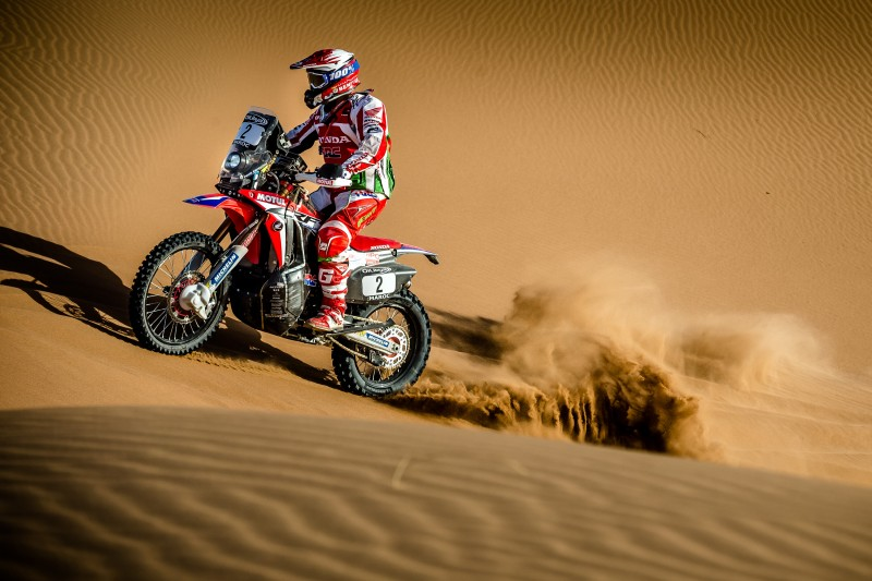 Win for Paulo Gonçalves and a one-two for Team HRC in Morocco Rally third stage