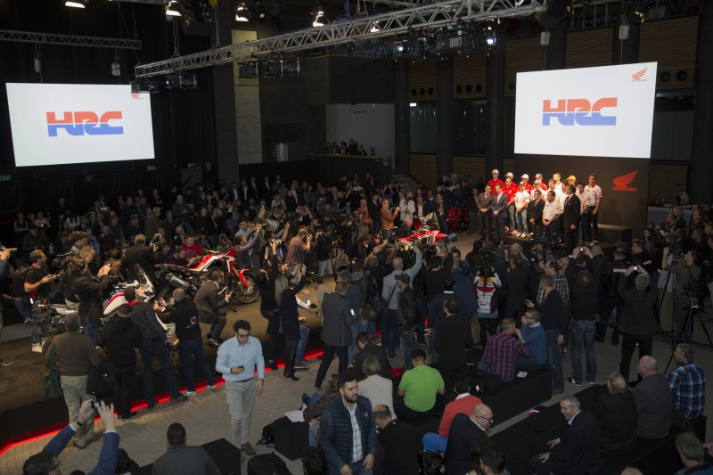 Team HRC in Milan for the presentation of the new Dakar 2016 team