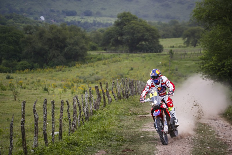 Honda CRF450 RALLY podium lockout in Jujuy