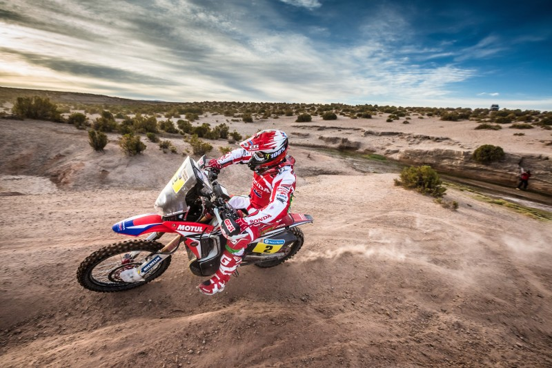 The Uyuni Salt Lake sours Team HRC's Dakar effort but Goncalves retains overall leadership