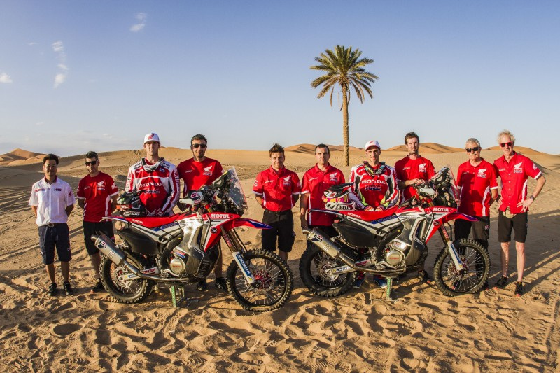 Ricky Brabec and Kevin Benavides get the 2016 season underway for Team HRC