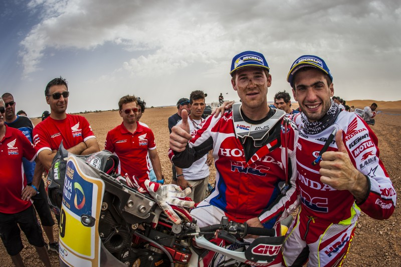 The battle goes on for Team HRC after the success in Merzouga