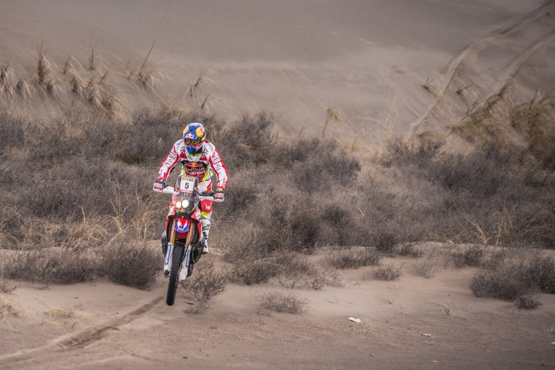 Team HRC on full force in the Ruta 40 first stage