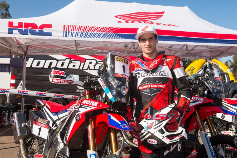 Kevin Benavides wins the Desafío Ruta 40. Team HRC podium lockout!