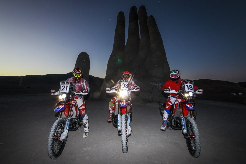 Tough day for Team HRC who remain amongst the leaders at the Atacama Rally