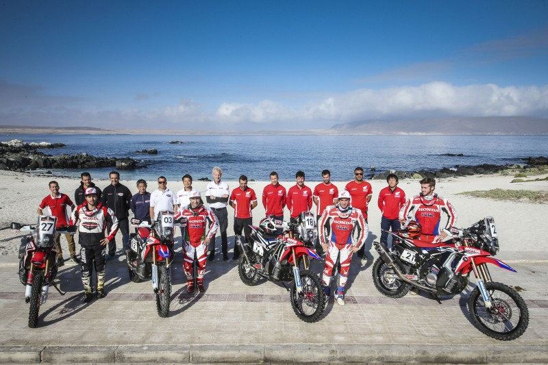 Team HRC rolls on after the Atacama Rally (VIDEO)