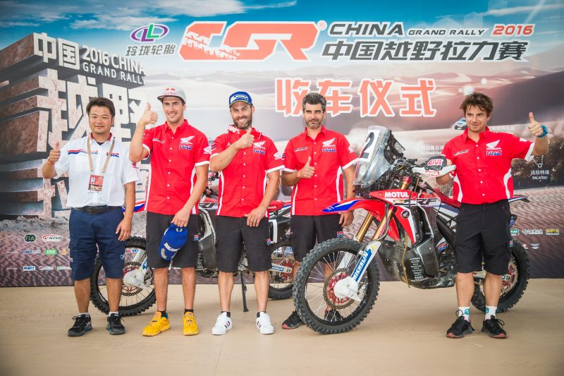 Team HRC prepares for the Dakar with an intense October (VIDEO)