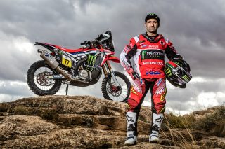 Paulo Goncalves and the CRF450 RALLY