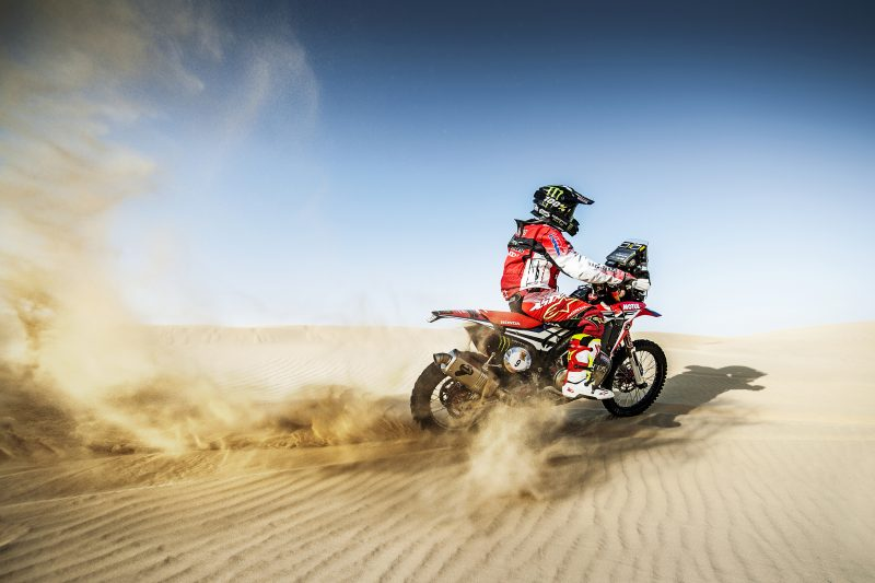 Monster Energy Honda Team get their first taste of the Liwa dunes