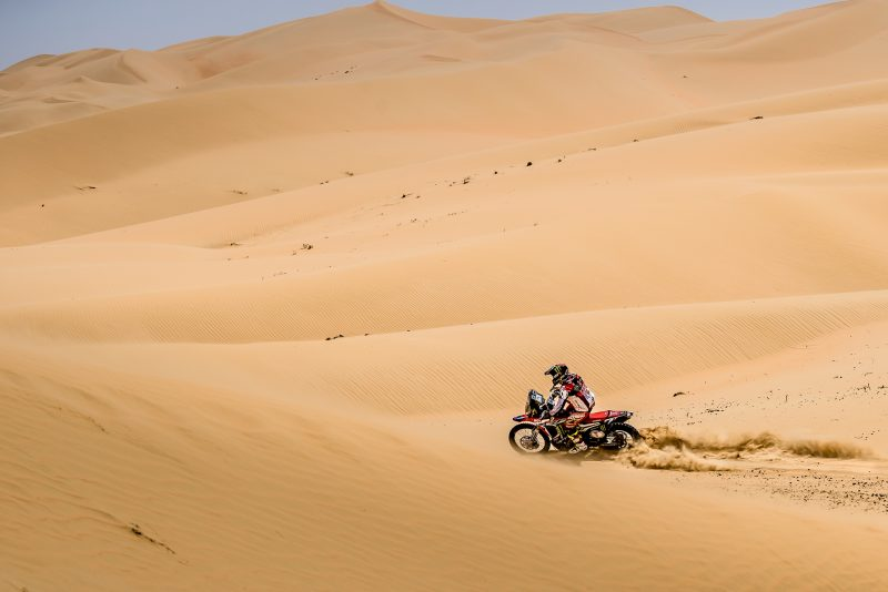Monster Energy Honda Team at the halfway-point in the Abu Dhabi Desert Challenge