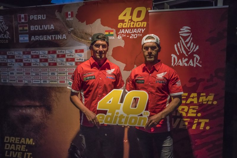 The Monster Energy Honda Team in the Dakar 2018 presentation tour in Barcelona