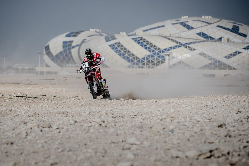 Monster Energy Honda Team get the Qatar Rally underway