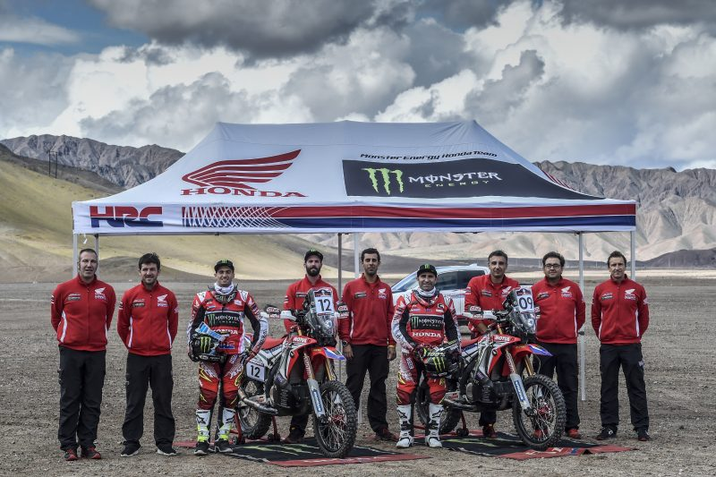 El Monster Energy Honda Team, preparado para el Atacama Rally