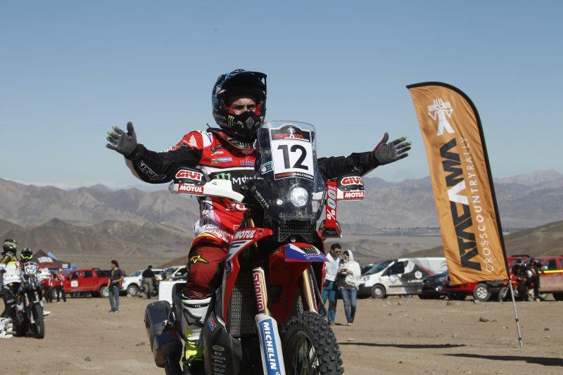 El Monster Energy Honda Team se muestra fuerte en el inicio del Atacama Rally