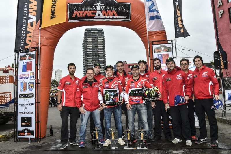 Doble podium del Monster Energy Honda Team en el Atacama Rally