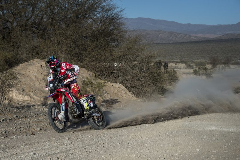 Monster Energy Honda Team takes the leadership in the Desafío Ruta 40 with a second stage one-two