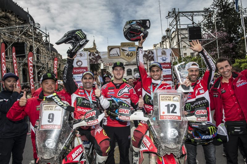 El Monster Energy Honda Team, en un gran momento (Video Ruta40)