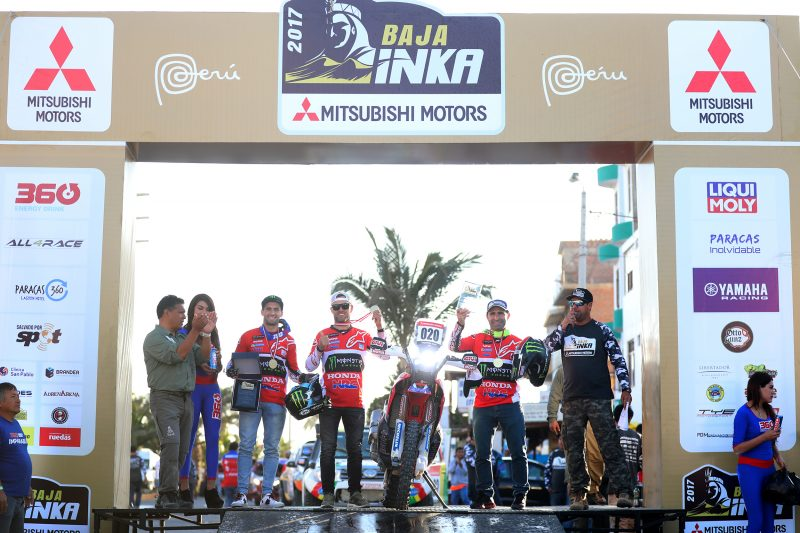 Top results for Monster Energy Honda Team in Peru. Paulo Gonçalves triumphs in the Baja Inka