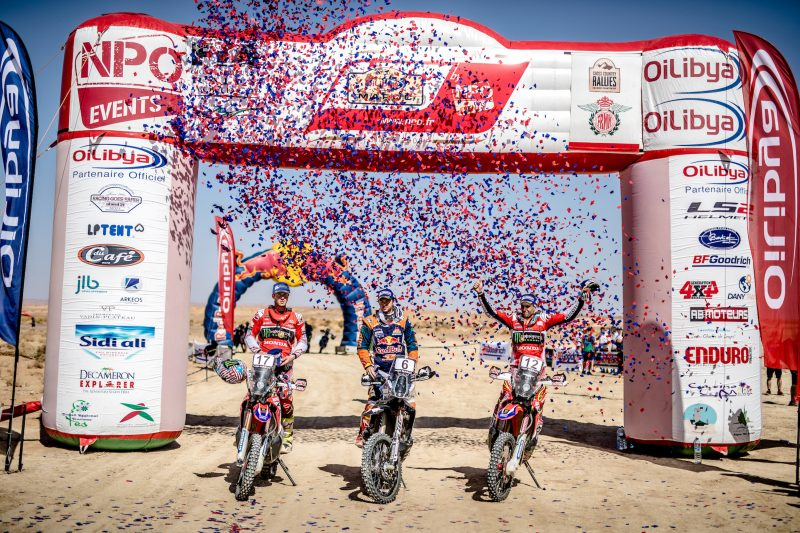 Double podium places for Monster Energy Honda Team in the Morocco Rally