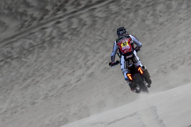 Kevin Benavides, second overall after a stage of mixed fortunes for Monster Energy Honda Team