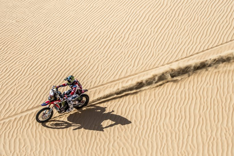 Cautious start for Monster Energy Honda Team as the Abu Dhabi Desert Challenge gets underway