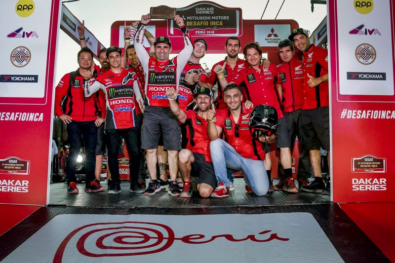 Monster Energy Honda Team, on form with victories in Chile, Argentina and Peru