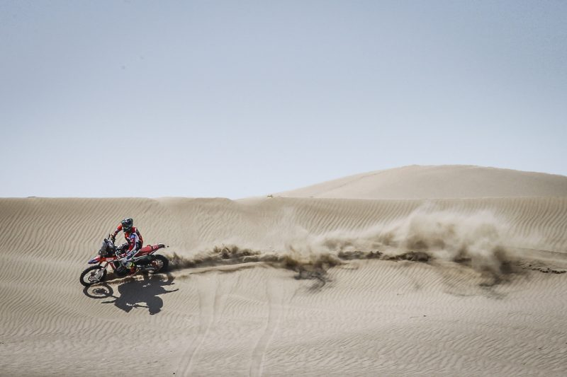 Monster Energy Honda Team at the Morocco Rally to close the season