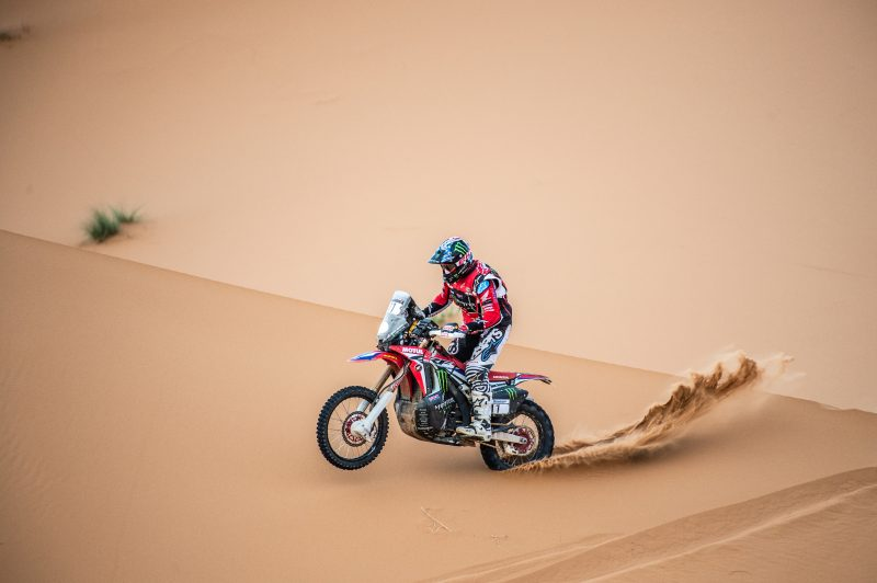 After the Morocco Rally marathon stage, Ricky Brabec remains in the fight for the podium