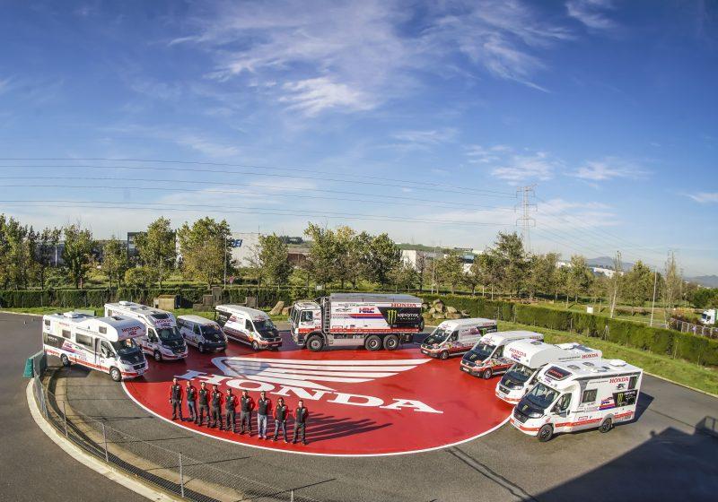Los vehículos del Monster Energy Honda Team ya navegan hacia Perú