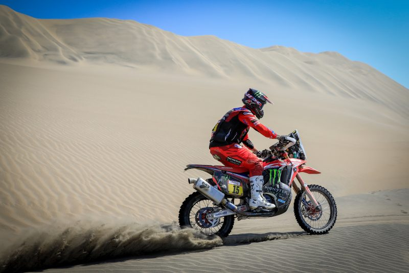 The longest special of the Dakar puts a spanner in the works for Monster Energy Honda Team