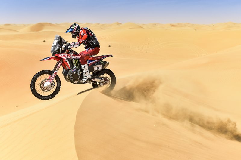 A prudent start as Monster Energy Honda Team get first contact with the dunes of Abu Dhabi