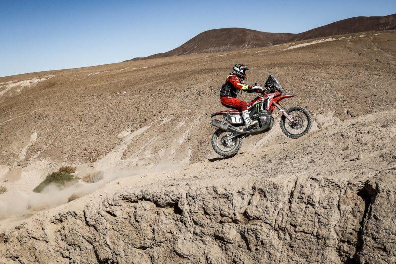 Monster Energy Honda riders keep their podium options open in the Atacama Rally