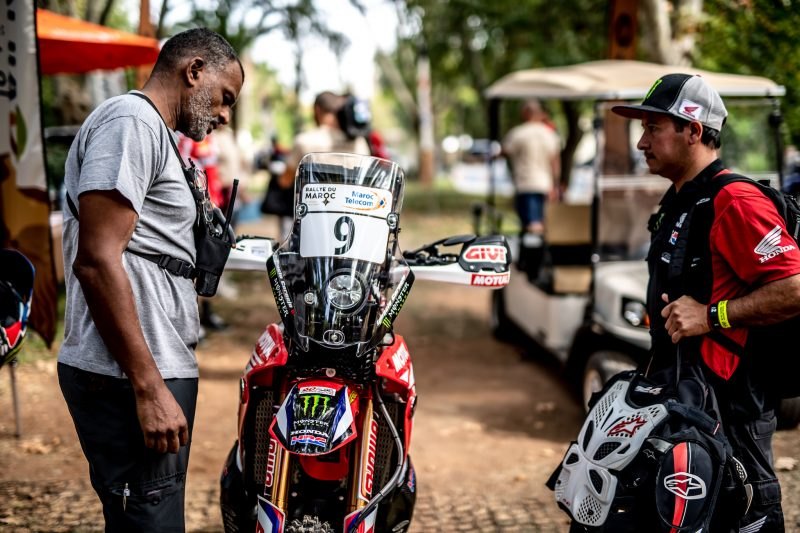 Rallye du Maroc: Monster Energy Honda on the starting line