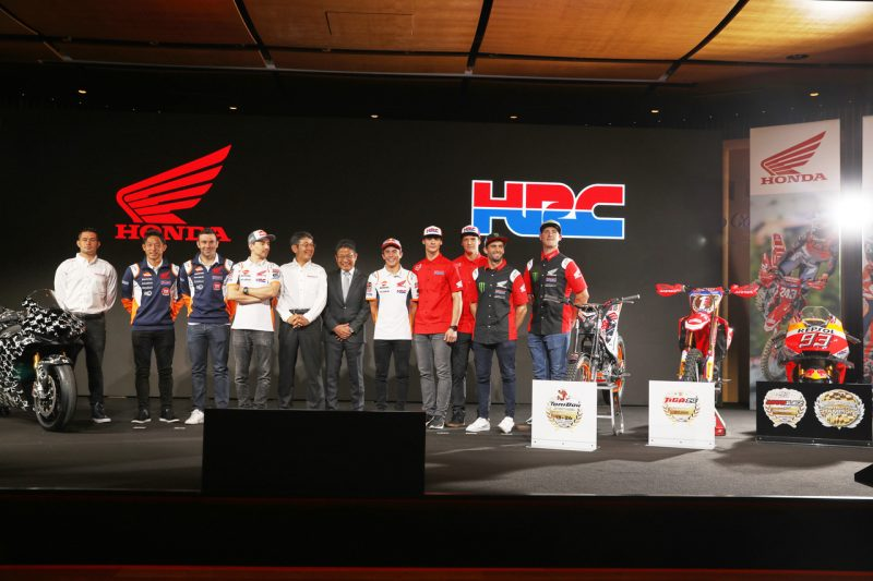The new Monster Energy Honda Team at EICMA for the official presentation of the HRC teams