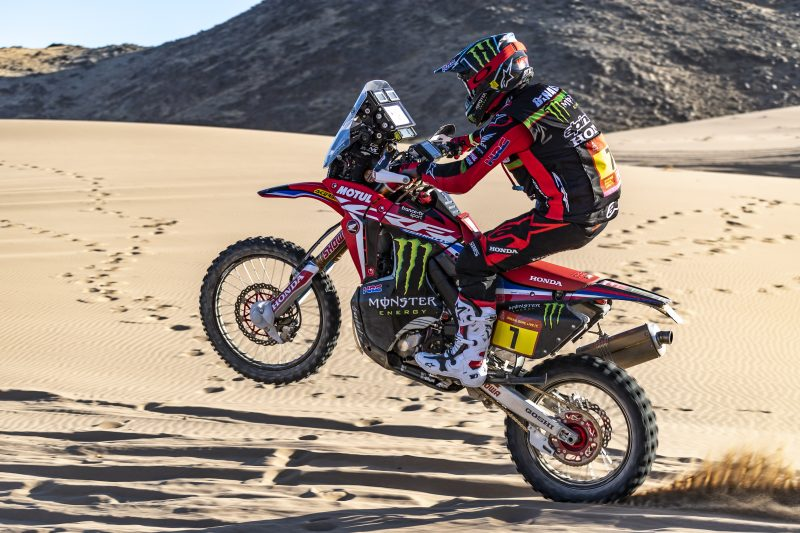 Fine debut for Monster Energy Honda at the Dakar in Saudi Arabia