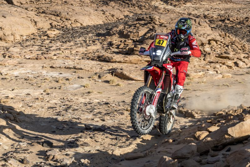 Positive stage for Kevin Benavides on the Wadi Ad-Dawasir loop