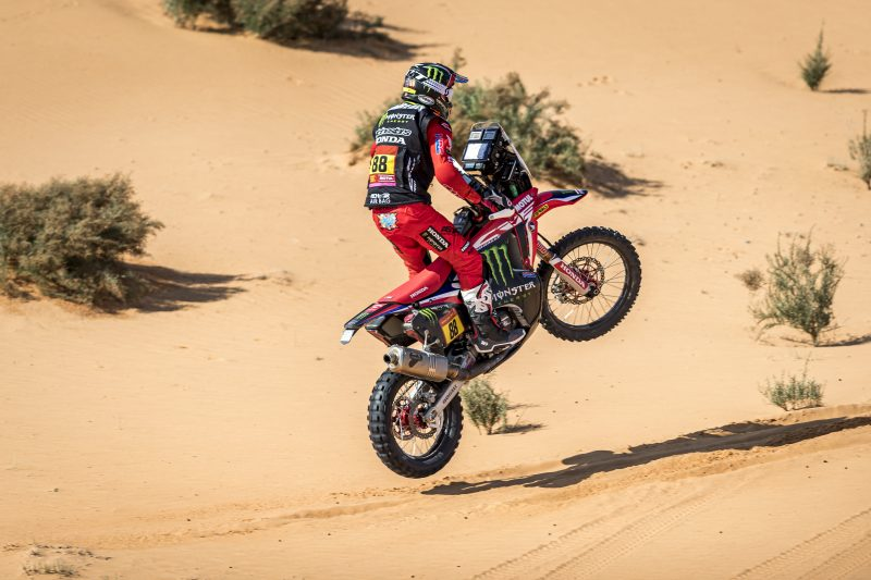Monster Energy Honda Team arrive at the rally halfway-point with all riders in fine shape