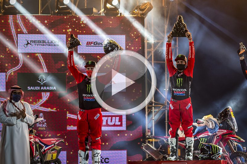 Video: Honda one-two at the 2021 Dakar Rally