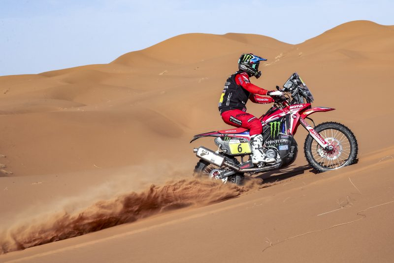 Quintanilla chases the lead in Morocco. Cornejo shines in the second stage